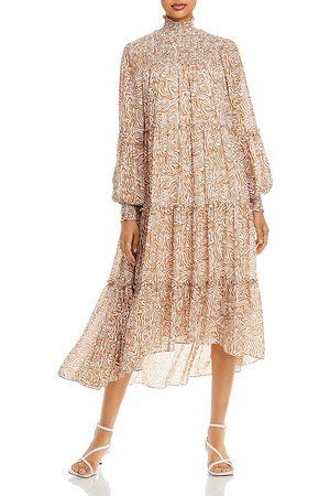 Cinq A Sept Rika Tiered Ruffle Midi Dress