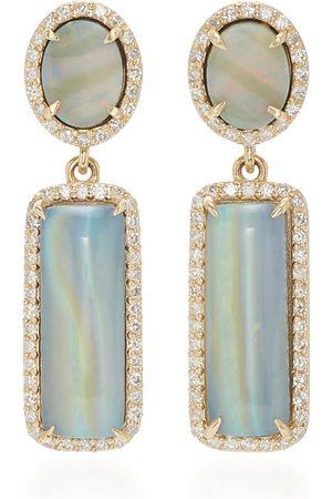 SHERYL LOWE Women's 14K ; Diamond And Opal Earrings - - Moda Operandi