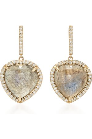 SHERYL LOWE Women's 14K ; Diamond And Labradorite Earrings - - Moda Operandi
