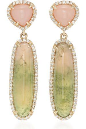 SHERYL LOWE Women's 14K ; Diamond And Tourmaline Earrings - - Moda Operandi
