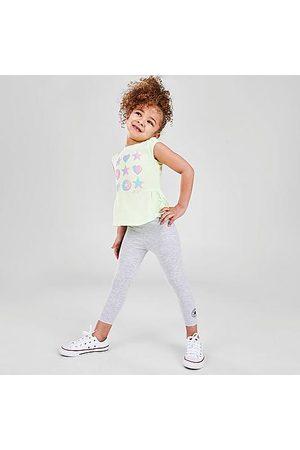 Converse Girls' Toddler Ruffle T-Shirt and Legging Set Size 2 Toddler Cotton/Jersey