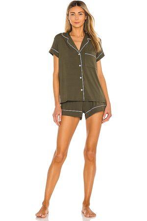 Eberjey Women Pajamas - Gisele Short PJ Set in Green.