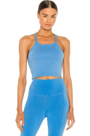 Electric & Rose Demi Crop Top in Blue.