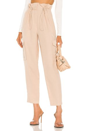 h:ours Shaye Paperbag Cargo Pant in Ivory.