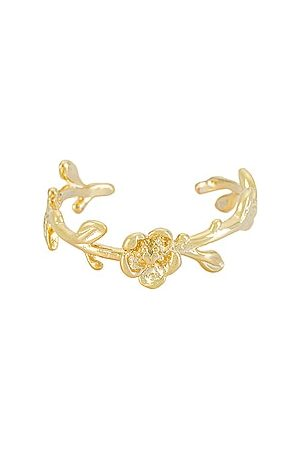 Adina's Jewels Flower Adjustable Ring in Metallic .