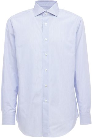 BRIONI Stripes Dino Fit Cotton Poplin Shirt