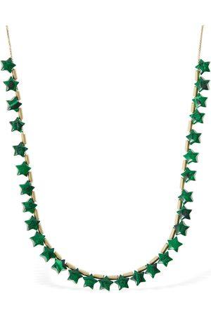 Bottega Veneta Women Necklaces - Malachite Mini Star Long Necklace