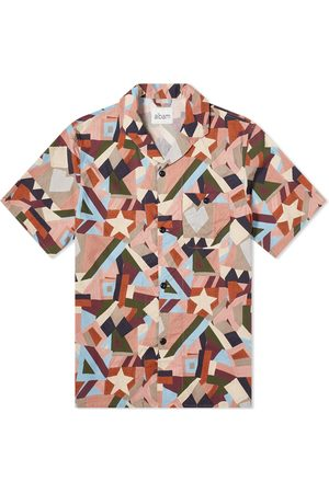Albam Men Short sleeves - Short Sleeve Miles Patchwork Printed Camp Collar Shirt