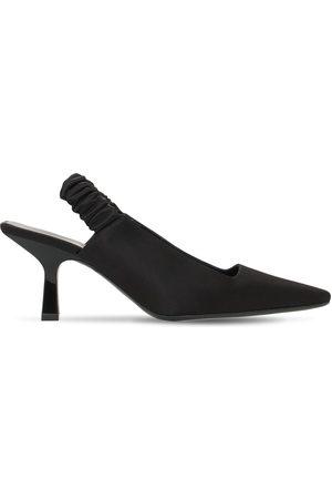 Khaite Women Heels - 70mm Celaya Satin Sling Back Pumps