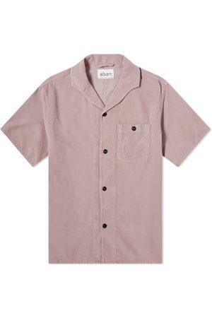 Albam Short Sleeve Miles Cord Camp Collar Shirt