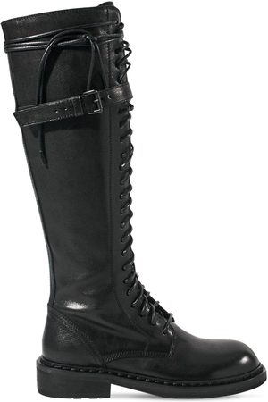 ANN DEMEULEMEESTER Women Thigh High Boots - 30mm Santiago Tall Leather Boots