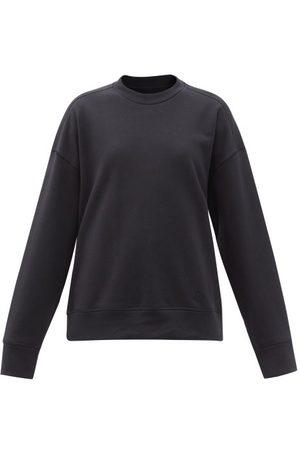 Jil Sander Women Sweats - Logo-embroidered Cotton-jersey Sweatshirt - Womens - Dark