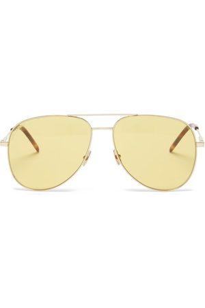 Saint Laurent Aviator Metal Sunglasses - Mens