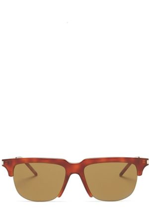 Saint Laurent Men Aviators - Aviator Metal Sunglasses - Mens - Tortoiseshell