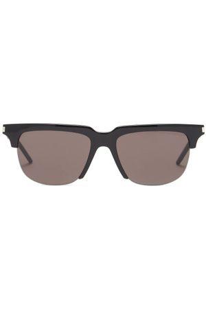 Saint Laurent Men Aviators - Half-frame Acetate Sunglasses - Mens