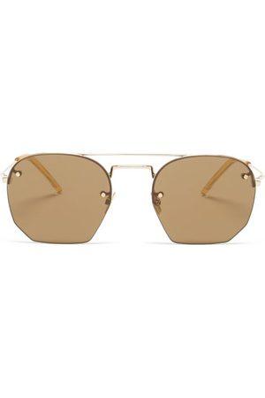 Saint Laurent Men Aviators - Aviator Metal Sunglasses - Mens