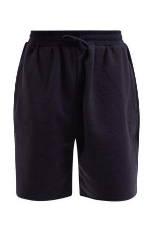 Raey Men Shorts - Oversized Cotton-jersey Sweat Shorts - Mens - Navy