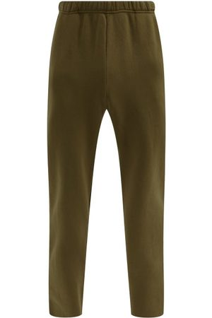 Les Tien Classic Brushed-back Cotton Track Pants - Mens - Khaki