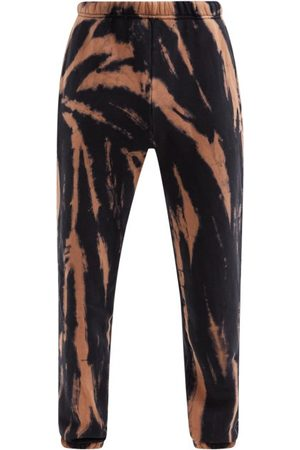 Les Tien Tie-dye Brushed-back Cotton Track Pants - Mens - Navy Multi