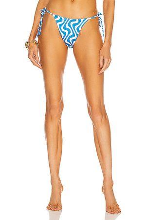 AEXAE Women Bikinis - For FWRD Tyra Tie Side Bikini Bottom in Blue