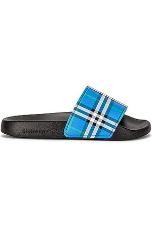 Burberry Women Sandals - Furley Check Slides in