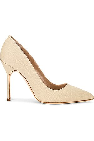 Manolo Blahnik Women Pumps - BB 105 Cotton Heel in