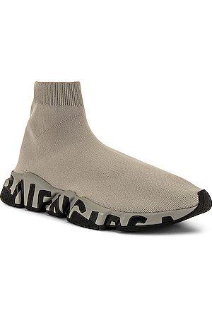 Balenciaga Men Sneakers - Speed Lt Graffiti in Grey