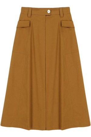 MOMONÍ Women Midi Skirts - Perugia skirt in stretch gabardine