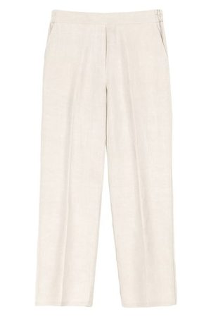 MOMONÍ Women Straight Leg Pants - Castana trousers in viscose linen