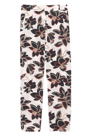 MOMONÍ Women Straight Leg Pants - Avena trousers in printed crepe de chine