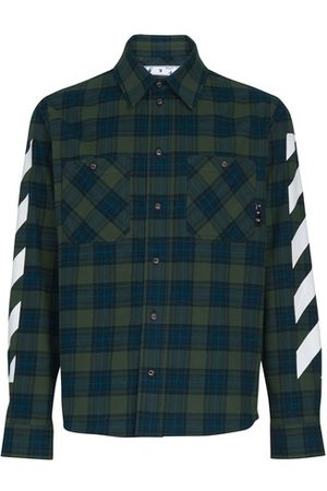 OFF-WHITE Men Long sleeves - Diag checked shirt