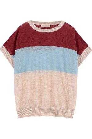 MOMONÍ Women Sweatshirts - Caserta sweater in striped slubbed linen