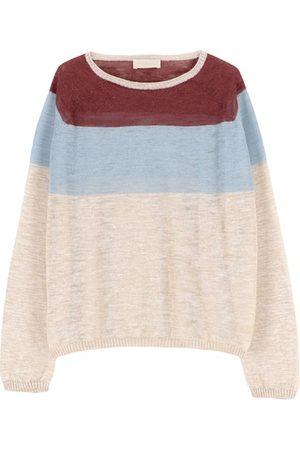 MOMONÍ Women Sweatshirts - Rio sweater in striped slubbed linen