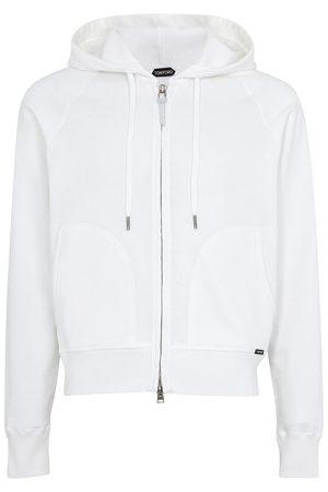 Tom Ford Men Hoodies - Jersey zipped hoodie