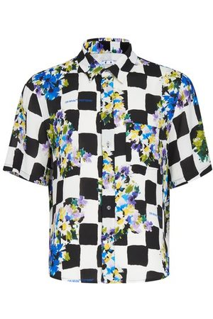 OFF-WHITE Men Short sleeves - Check Flower shirt