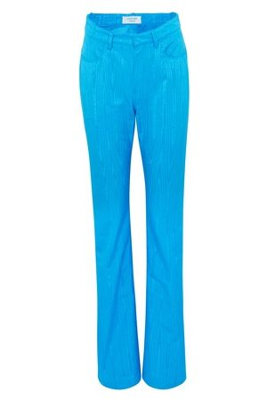 Marine Serre Women Straight Leg Pants - Zipped straight-fit pants