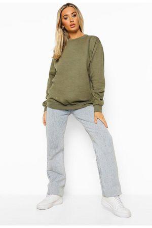 Boohoo Women Sweatshirts - Womens Basic Oversized Sweatshirt - - 2