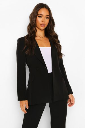 Boohoo Womens Plunge Tailored Fitted Blazer - - 4