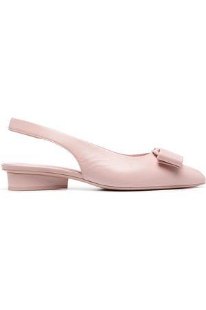 Salvatore Ferragamo Women Ballerinas - Bow-detail slingback ballerina shoes