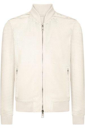 Dolce & Gabbana Perforated effect zipped jacket - Neutrals