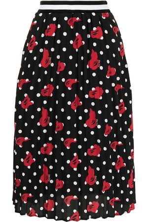 A Bathing Ape Polka-dot pleated midi skirt
