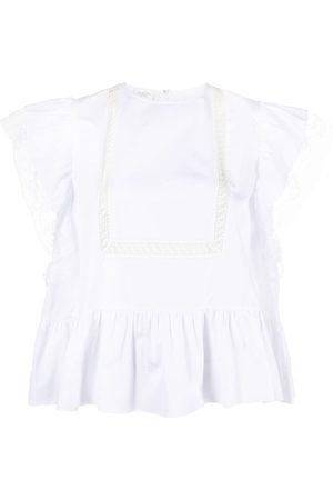 adidas Lace-insert cotton blouse
