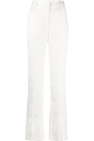 HEBE STUDIO Women Straight Leg Pants - The Lover jacquard straight-leg trousers