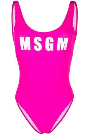 Msgm Logo-print swimsuit