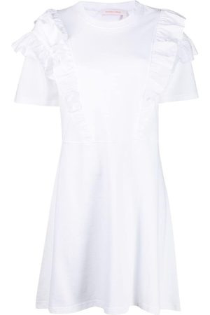 See by Chloé Ruffle-trim cotton dress