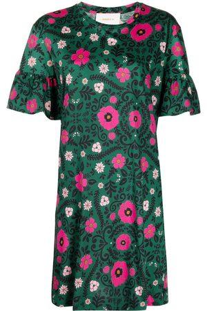 La Doublej Walk The Dog floral-print dress