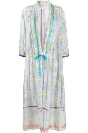 FORTE FORTE Women Coats - Floral-print oversized coat