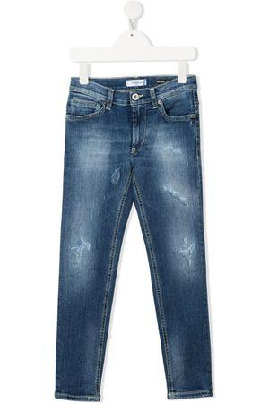 DONDUP KIDS Slim-fit distressed jeans