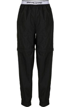 Ground Zero Women Straight Leg Pants - Logo-waistband trousers