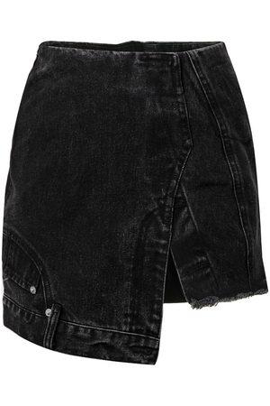 Ground Zero Asymmetric denim skirt